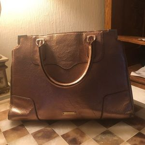 Vintage Rebecca Minkoff Leather Metallic Tote